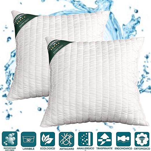 EvergreenWeb - Cojines sofá o Cama Blanco Altos 15 cm de Lazo ...