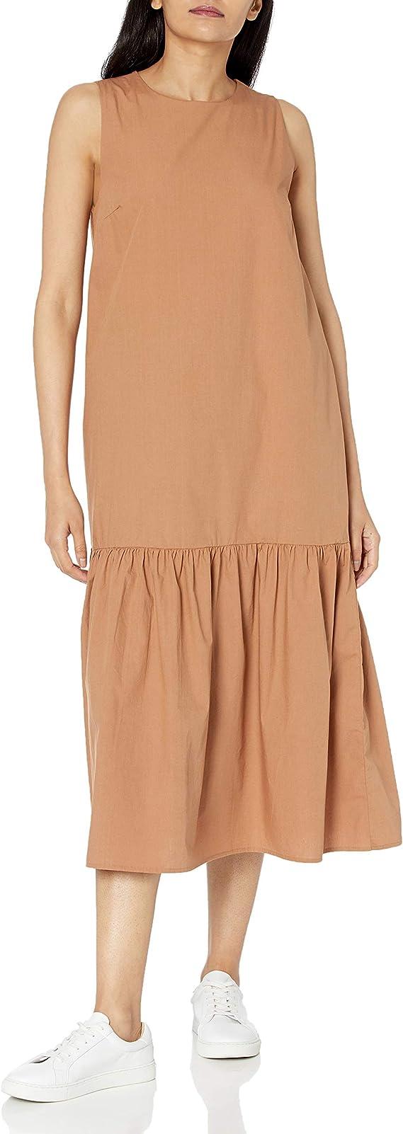 The Drop Women S Ilana Loose Sleeveless Wide Hem Poplin Maxi Dress Amazon Ca Clothing Accessories