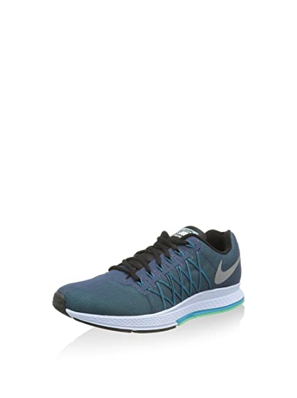 Nike Men's Air Zoom Pegasus 32 Flash Running Shoes, Azul/Plata/Blanco/