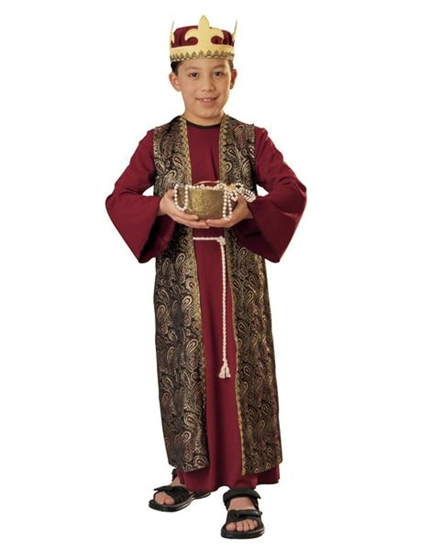 Amazon.com: Tres Reyes Magos Niño Disfraz Gaspar (Rojo con ...