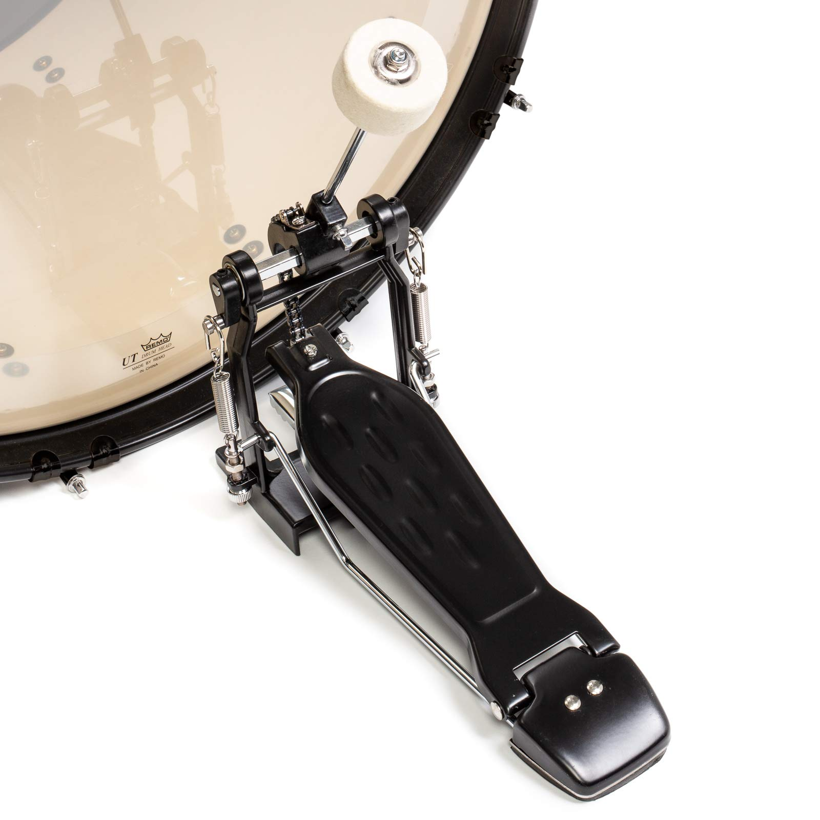 Ashthorpe 5-Piece Complete Full Size Adult Drum Set with Remo Batter Heads - Silver by Ashthorpe (Image #6)
