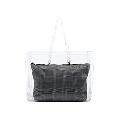 Amazon.com  Lam Gallery Womens Clear Purse PVC Plastic Transparent Handbags  Weekender Shopping Tote See Through Bag for Work  Shoes 73cb54922b3f8