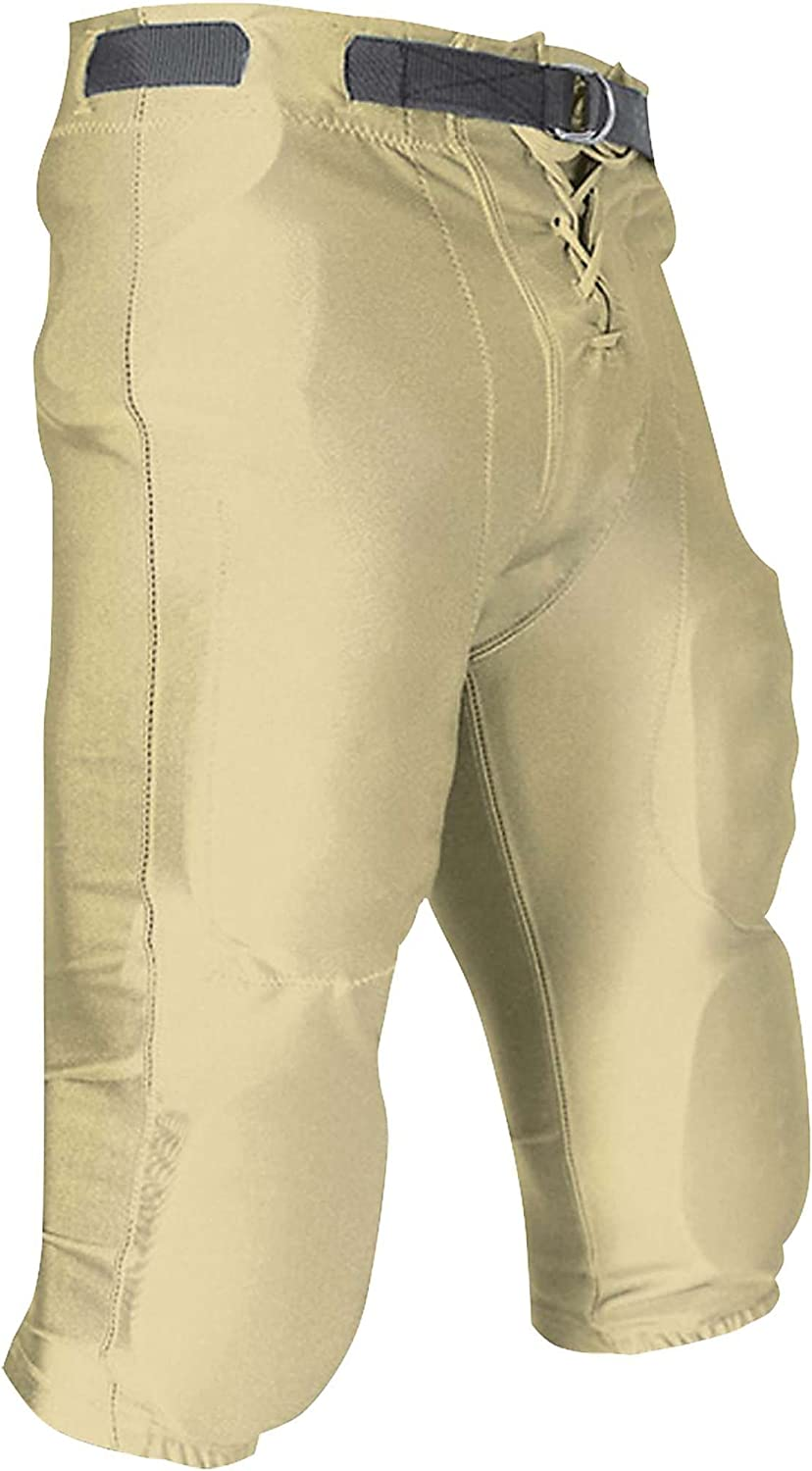CHAMPRO Youth Slotted Dazzle Football Pant Vegas Gold Medium