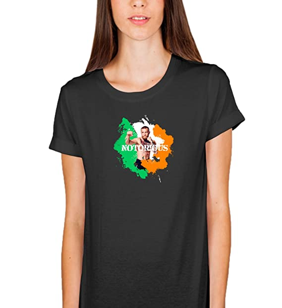 Connor MC Gregor Boxe Fight Winner Ireland Proud Country Flag Love Champion Sport Club Body T-Shirt Camiseta Shirt para la Mujer Women Regalo De Navidad: ...