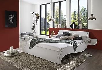 Bett Mit Gepolstertem Kopfteil sam polsterbett 180x200 cm murcia weiß bett mit gepolstertem