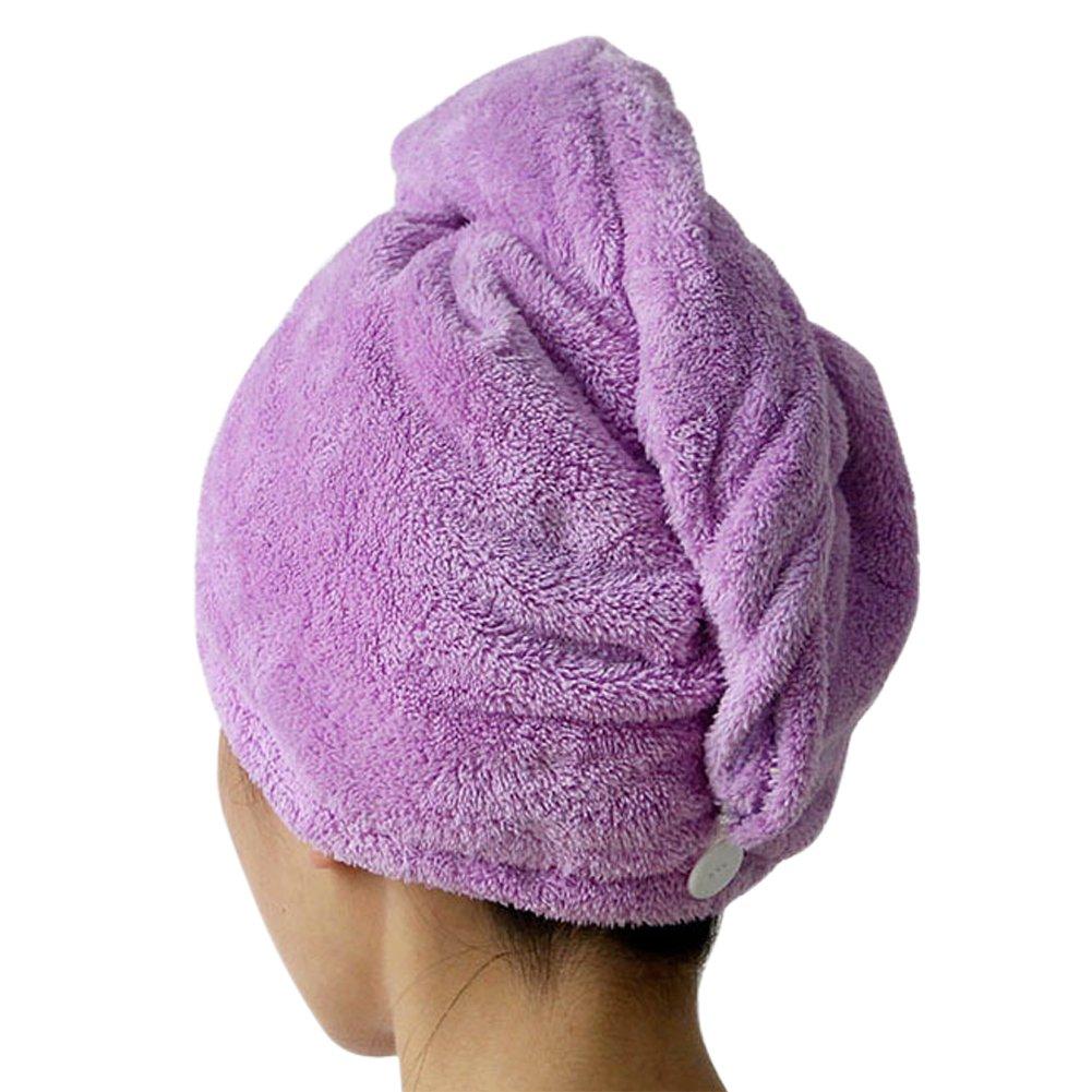 CHIC-CHIC - Asciugamano in microfibra ad asciugatura rapida, per turbante dopo doccia blu