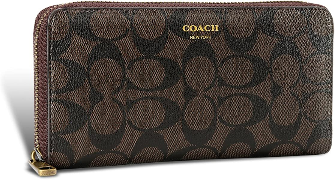 61d56d6b45c4 コーチ COACH 長財布 ブラウン 財布 男女兼用 メンズ財布 ファスナー 大容量 F74597 [並行