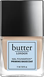 butter LONDON Nail Foundation Priming Base Coat, nail strengthener with nail