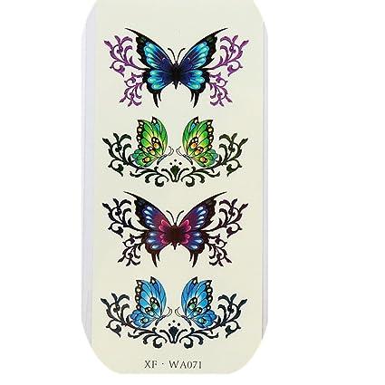 Vovotrade ❃ ❃ ❃ pegatinas de tatuaje moda femenina 3d mariposa ...