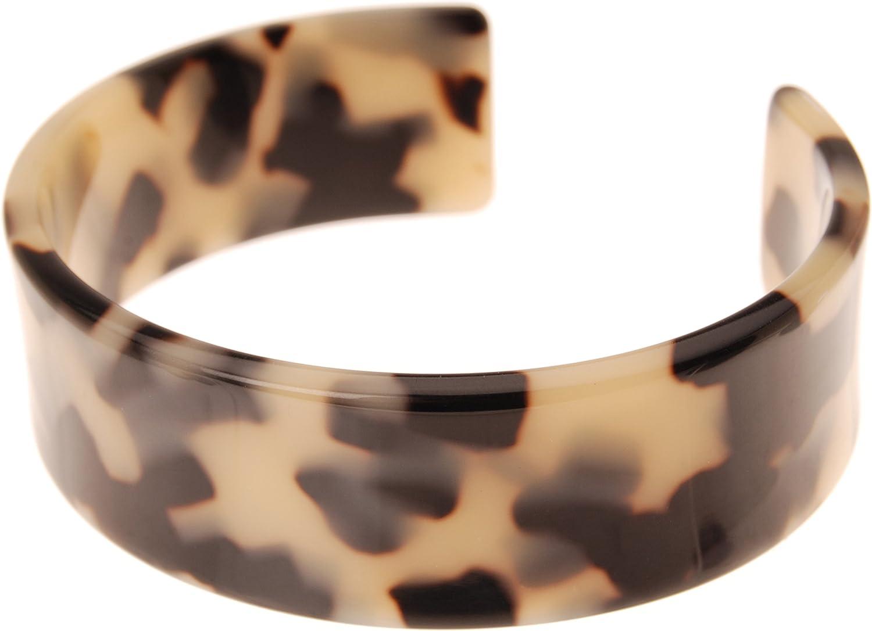 Vintage Black Celluloid Acetate Wrap Bracelet Cuff