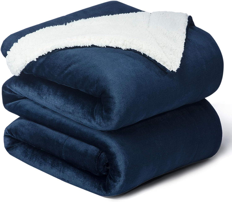 Bedsure Sherpa Queen Size Fleece Blanket