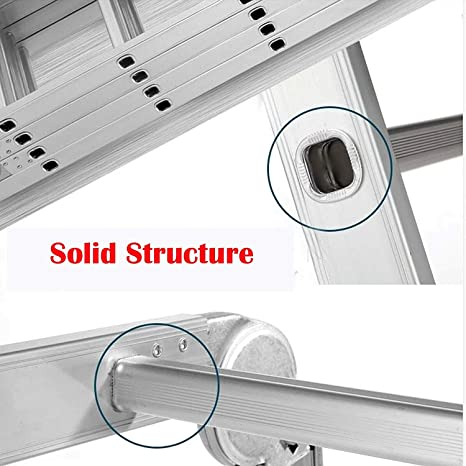 Multipropósito escalera de aluminio con 1 herramienta de la placa ...