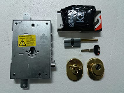 Kit Cerradura Puerta Blindada Original securemme 3 pistones interasse 37 mm entrada 63 mm + Cilindro