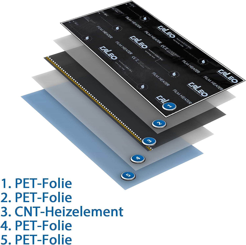 Fussbodenheizung elektrisch 2m/² f/ür Laminat Parkett Echtholz Vinyl auf HDF