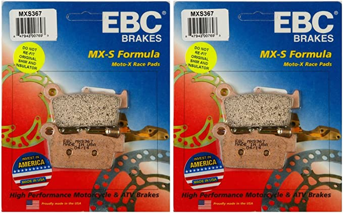 MXS Series Race Sintered Rear Brake Pads EBC MXS367
