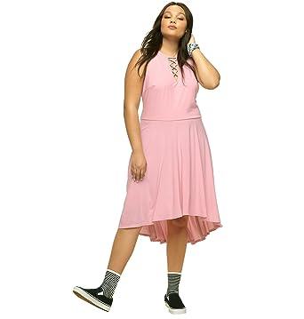 c222f247abe0 LORALETTE Women's Criss Cross Hi Lo Dress at Amazon Women's Clothing ...