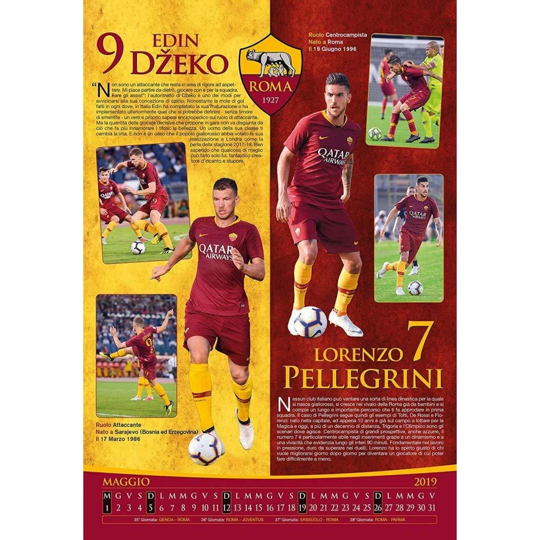 Calendario As Roma 2019 20.Official As Roma 2019 Calendar 29 X 42