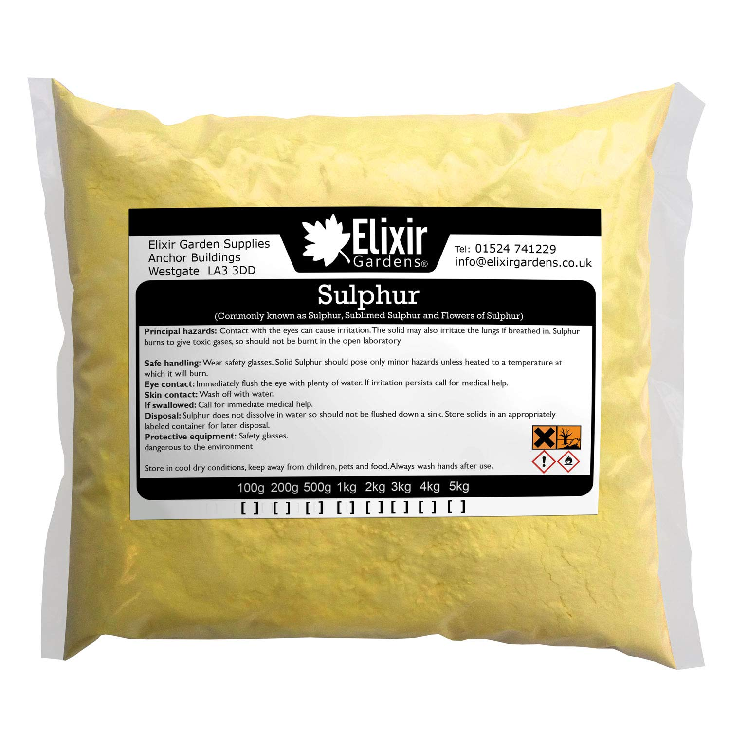 Elixir Gardens ® Flowers of Sulphur Powder 100g