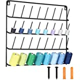 HAITARL 32-Spool Sewing Thread Rack, Wall-Mounted Metal Sewing Thread Holder with Hanging Tools, Metal Rack for Organize…