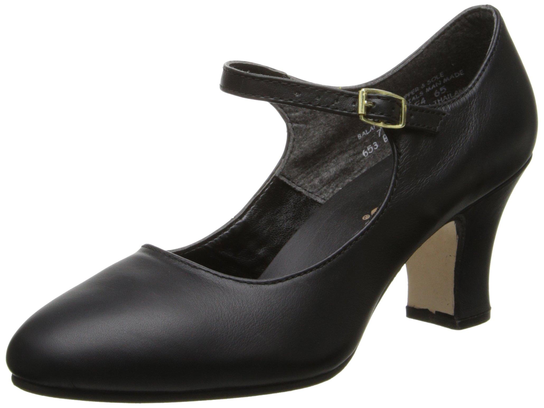 Capezio Women's Manhattan Character Shoe, Black, 9 B - Medium
