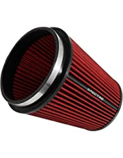Spectre Performance HPR9891 Universal Clamp-On Air Filter: Round Tapered; 6 in (152 mm) Flange ID; 8.5 in (216 mm) Height; 7.719 in (196 mm) Base; 5.125 in (130 mm) Top