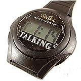 Reflex talking digital quartz watch with alarm function