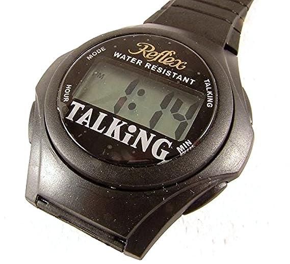 Reflex TALK01 - Reloj digital parlante con mecanismo de cuarzo y alarma: Amazon.es: Relojes