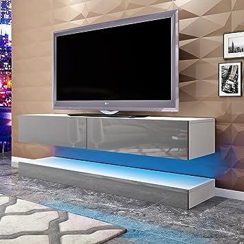 Keinode Mueble de TV de Pared con Soporte Blanco Brillante para TV, 100 cm, Mueble de Almacenamiento para Sala de Estar, Dormitorio Type B: Amazon.es: Electrónica