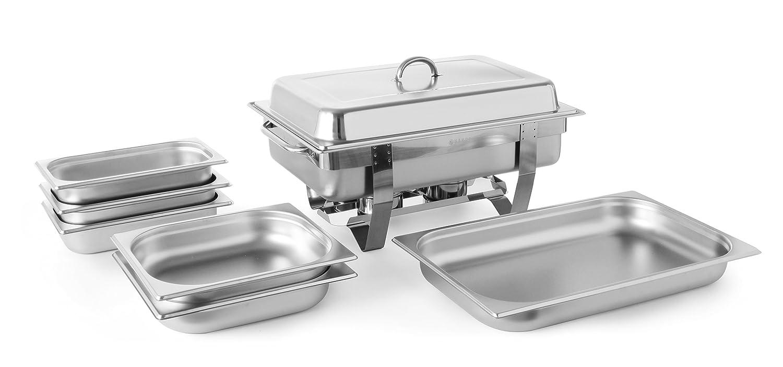Hendi 471050 Chafing Dish Set INOX, Silver, 58,5x38,5x31,5 cm