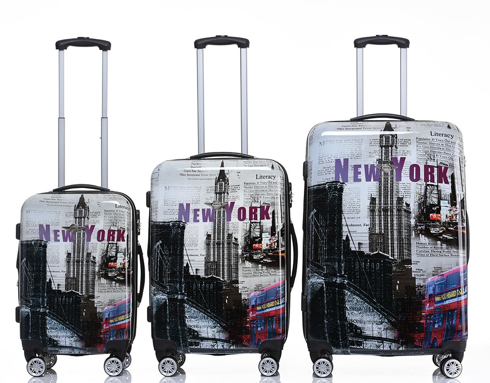 Rivolite New 3 Piece Luggage Set Luggage Set 20''/24''/28'' Suitcase ( New York) by Rivolite