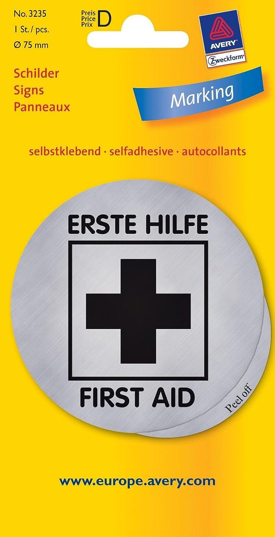 hinw Cartel Primeros Auxilios Plata 1st: Amazon.es: Oficina ...
