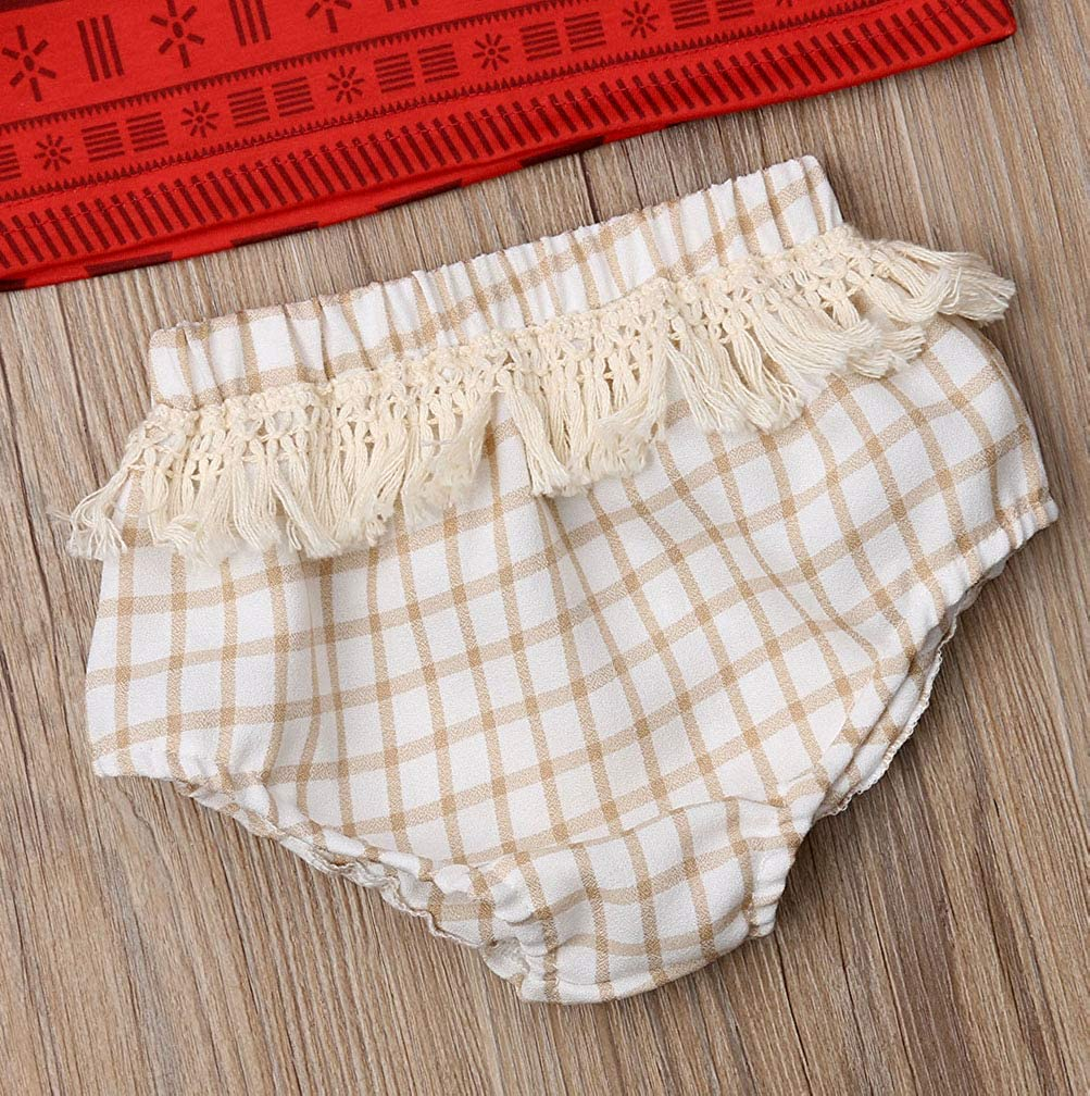 Newborn Baby Girls Clothes Sleeveless High Waist Tank Top with Tassels Bloomers Shorts 2Pcs Outfit Sets