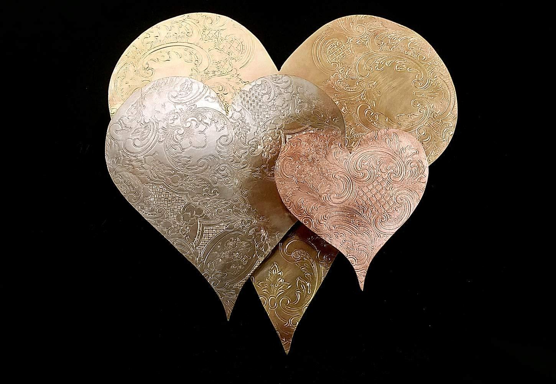 Metal Wall Art Heart Cloud 1577e *SAVE 15 SEE BELOW* Steampunk Industrial Anniversary Vintage Valentine's Day Housewarming Wedding Birthday Christma