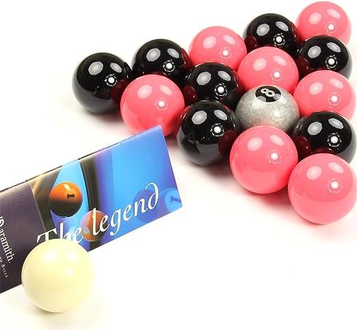 EXCLUSIVA! Aramith Premier SILVER 8 BALL edición rosado y negro bolas de billar: Amazon.es: Deportes y aire libre
