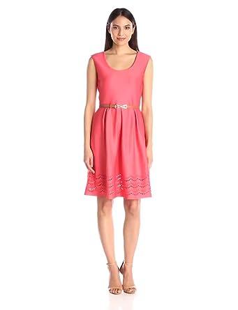 28cb3154270a Tiana B Women's Cap Sleeve Fit Flare Dress A Belt at Amazon Women's ...