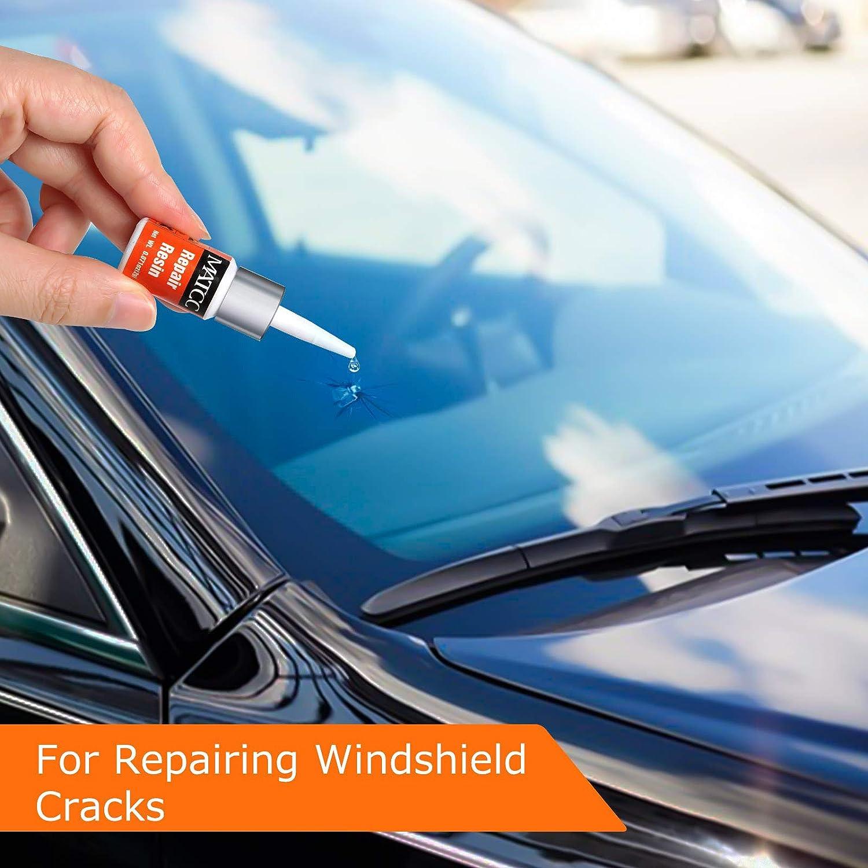 Matcc Auto Windschutzscheiben Reparaturset Werkzeug Glas Reparatur Set Windshield Repair Kit Windscreen Repair Resin Für Pkw Crack Und Chip Auto