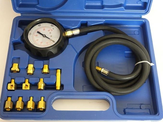 vidaXL Öldrucktester Ölmeßgerät Öldruckprüfer Auto Öldruckmesser Werkzeug Prüfer