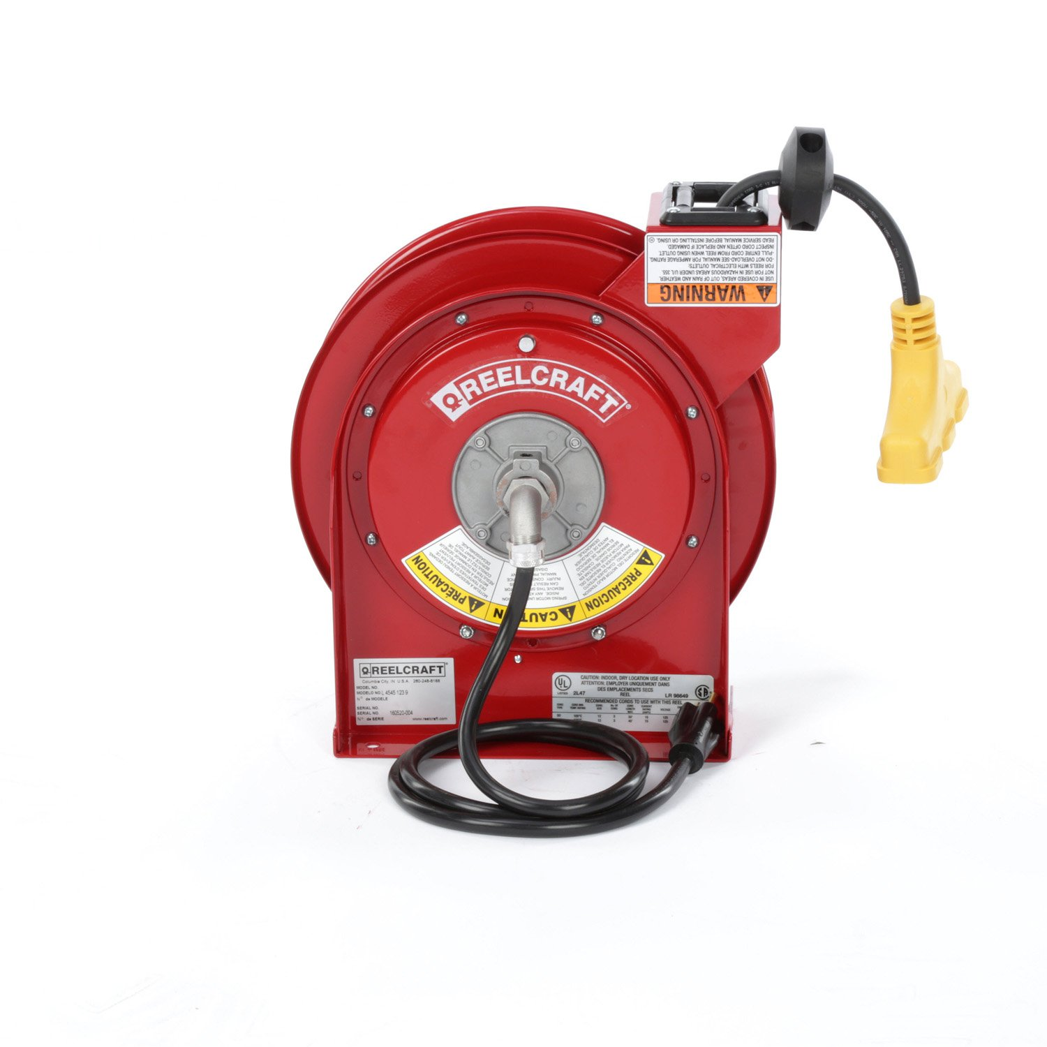REELCRAFT 45 Ft. Power Cord Reel, Triple Outlet by Reelcraft