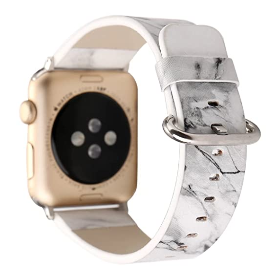 Fashion Marble Print Soft Leather Apple Watch Band 42mm iWatch Replacement  Wristband Strap for Women Men eb4a72598c