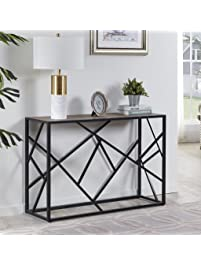 Homissue 30u201d Height Console Sofa Table With Sturdy Criss Cross Design For  Hallway /