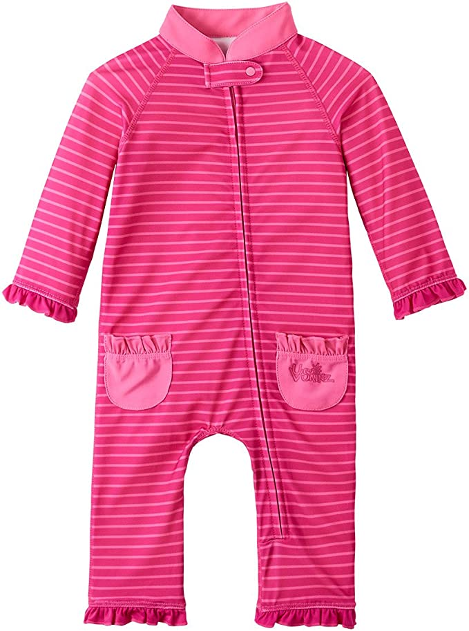 UV SKINZ UPF 50 Baby Girls Sun /& Swim Play Suit
