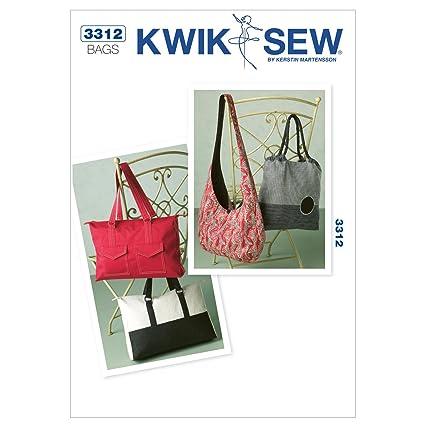 Amazon.com: Kwik Sew K3312 Bags Sewing Pattern, No Size