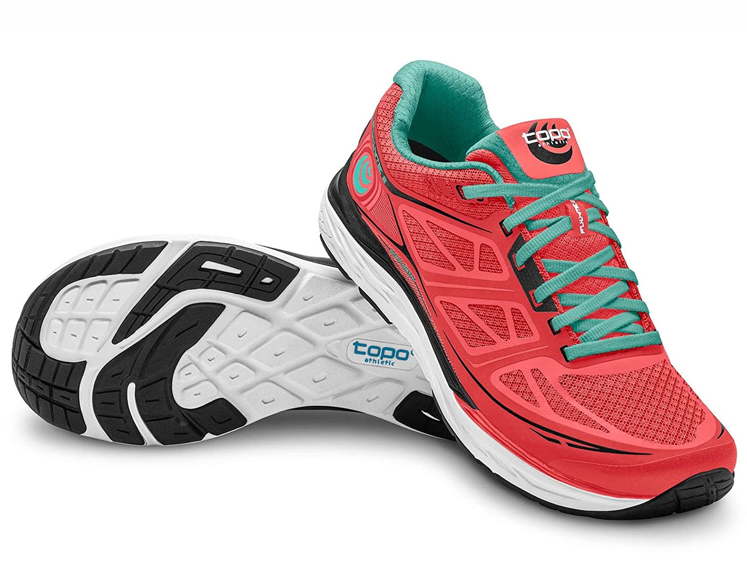 Topo Athletic Fli-Lyte 2 Running Shoes - Women's B071XNBX4M 6.5 B(M) US|Coral/Aqua