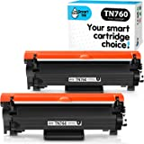 Smart Ink Compatible Toner cartridge Replacement For Brother TN760 TN730 TN-760 TN-730 (WITH CHIP, 2 Combo Pack) to use with