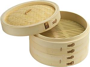 Joyce Chen 26-0013, 10-Inch Bamboo Steamer Set (2)