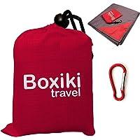 Boxiki Travel Manta para Playa Compacta A Prueba de Agua Portátil Ligera Plegable Incluye Un Estuche