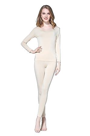 bf8330d700a168 Vinconie Women Soft Modal Cotton Thermal Underwear Long Johns Sets  Wintergear