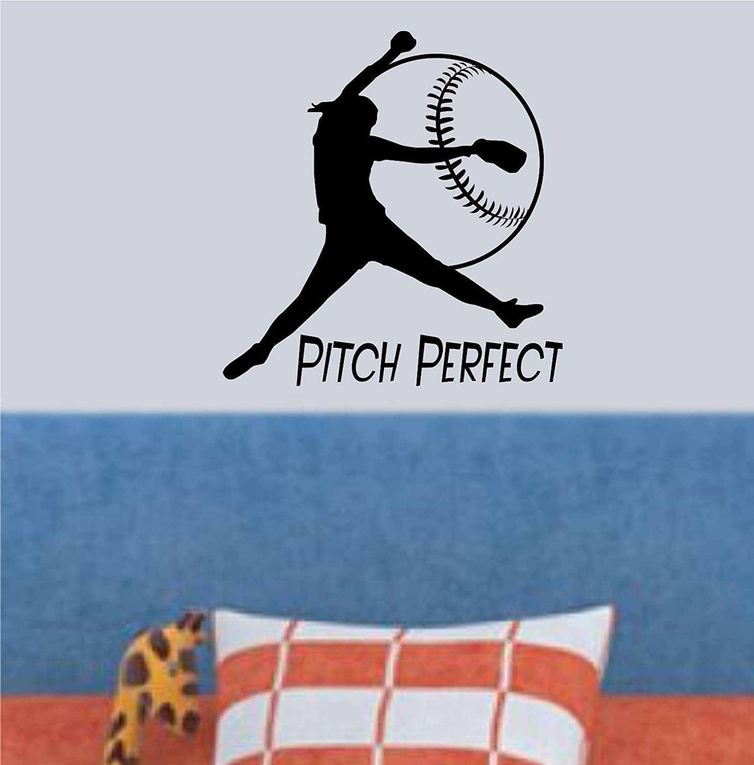 Amazon softball pitching high quality black vinyl wall decal amazon softball pitching high quality black vinyl wall decal girls softball pitch perfect usa made unique softball gift young girls bedroom teenagers amipublicfo Choice Image