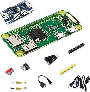 CQRobot Kit D with USB HUB Hat for Raspberry Pi Zero W (Added WiFi ...