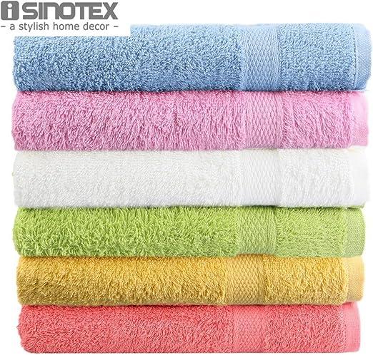 Generic azul: toalla de baño 100% algodón 50 x 80 cm 1 pcs/lot 6 ...